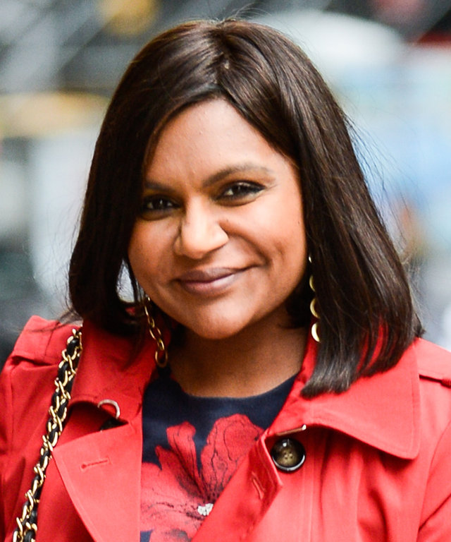 """NEW YORK, NY - OCTOBER 03:  Actress Mindy Kaling enters """"The Late Show With Stephen Colbert"""" taping at the Ed Sullivan Theater on October 03, 2016 in New York City.  (Photo by Ray Tamarra/GC Images)"""