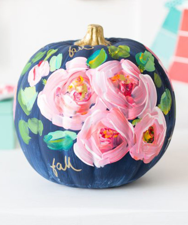 10 of the Prettiest Painted Pumpkins You've Ever Seen