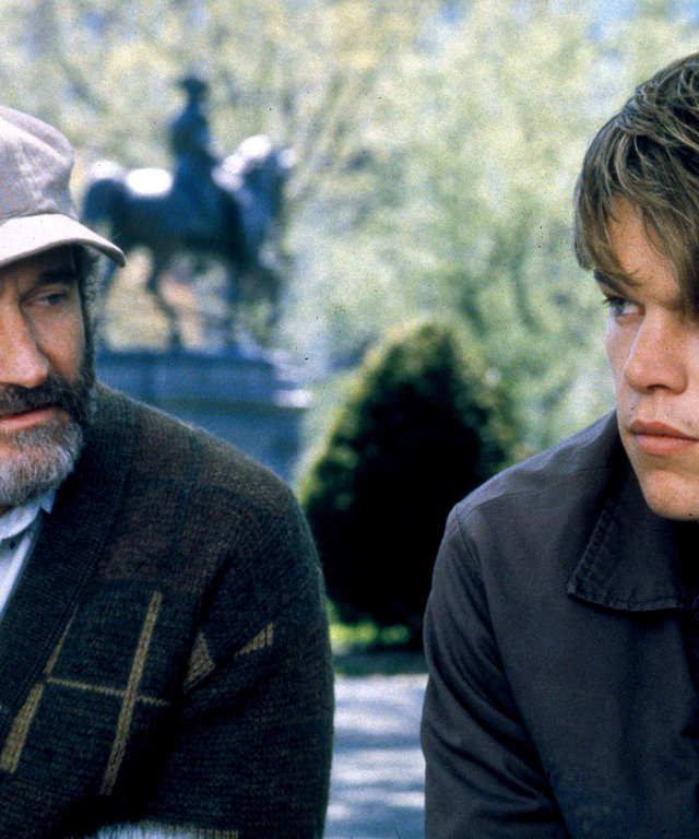 EF88C5 ROBIN WILLIAMS & MATT DAMON GOOD WILL HUNTING (1997)