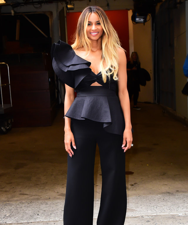 Ciara Is All Ruffled-Up in a Sexy Black Ensemble for Live with Kelly Appearance