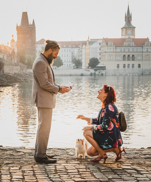 This Beautiful Engagement in Prague Took 2 Years to Plan—And HE Said Yes