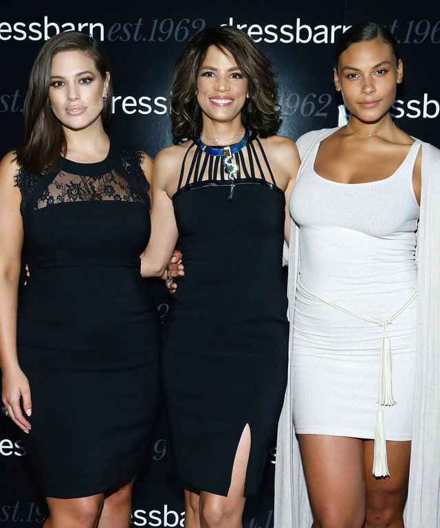 NEW YORK, NY - OCTOBER 19:  Ashley Graham, Veronica Webb and Marquita Pring  attend 2016 Dressbarn fall campaign launch with Ashley Graham at Industria Superstudio on October 19, 2016 in New York City.  (Photo by John Lamparski/WireImage)
