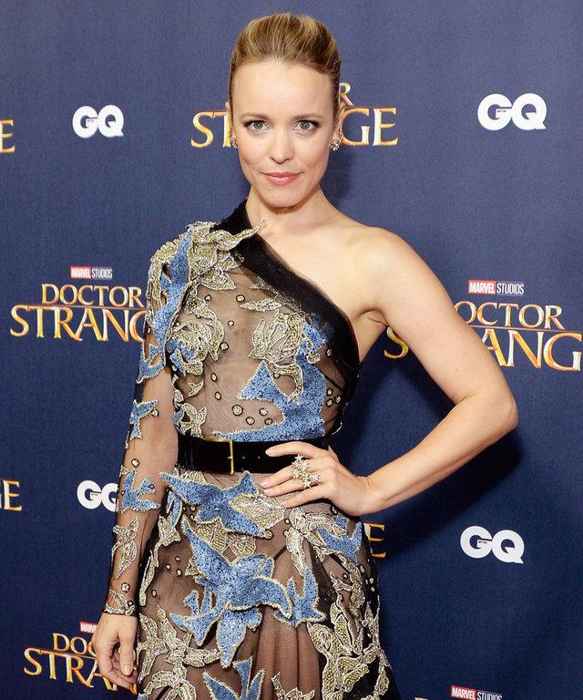 Rachel McAdams Is a Sheer Delight in Elie Saab at the London Premiere of Doctor Strange