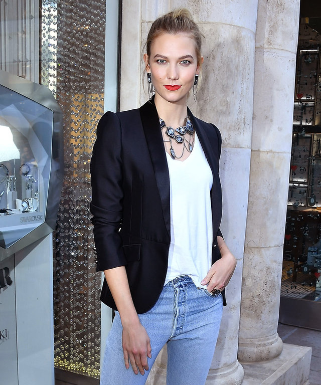 Karlie Kloss Effortlessly Takes Her High Ponytail from Day to Night with These Outfits