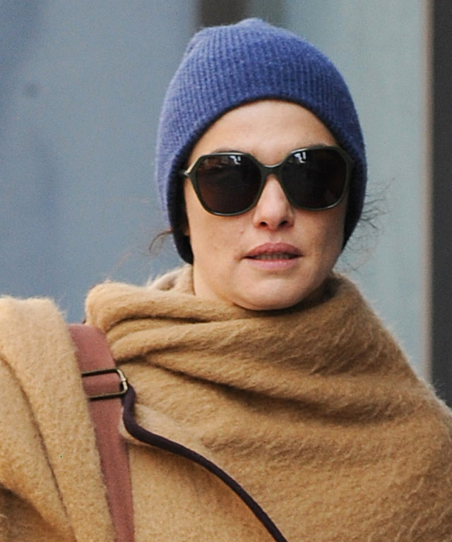 Rachel Weisz Wraps Up Like a Caped Crusader in N.Y.C.