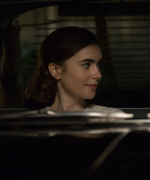 UWBP_00807FD_1.85 - Small town beauty queen and aspiring actress Marla Mabrey (Lily Collins) finds herself attracted to her personal driver Frank Forbes (Alden Ehrenreich), even though it defies their employer Howard Hughes' #1 rule:  no employee is all
