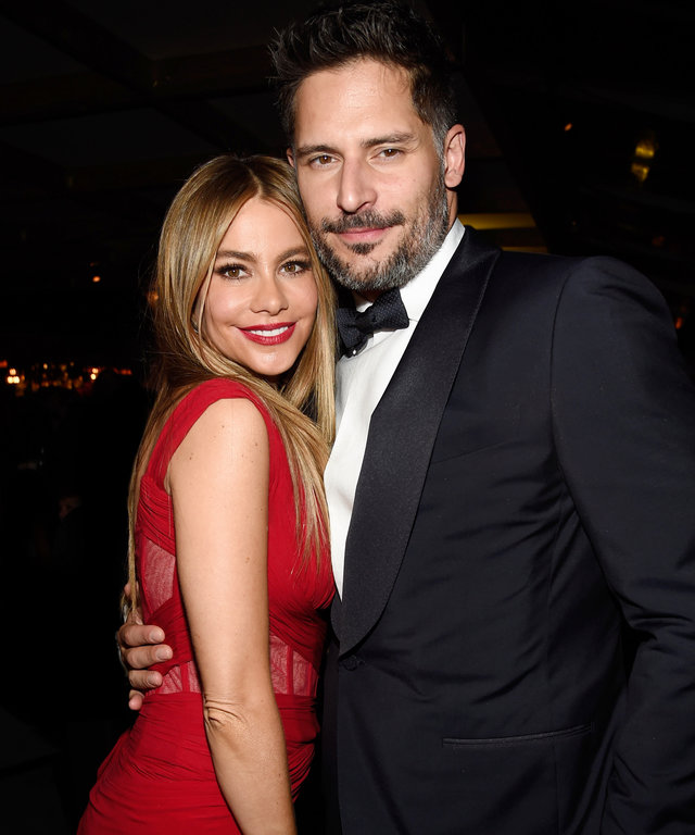 LOS ANGELES, CA - JANUARY 25:  (NO USA WEEKLIES)  Sofia Vergara and Joe Manganiello attend PEOPLE and the Entertainment Industry Foundation host the 21st Annual Screen Actor's Guild Awards after party January 25, 2015 in Los Angeles, California.  (Photo b