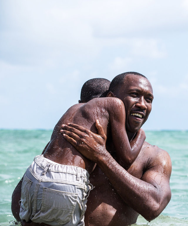 MOONLIGHT, from left: Alex R. Hibbert, Mahershala Ali, 2016. ph: David Bornfriend/ © A24 /courtesy Everett Collection