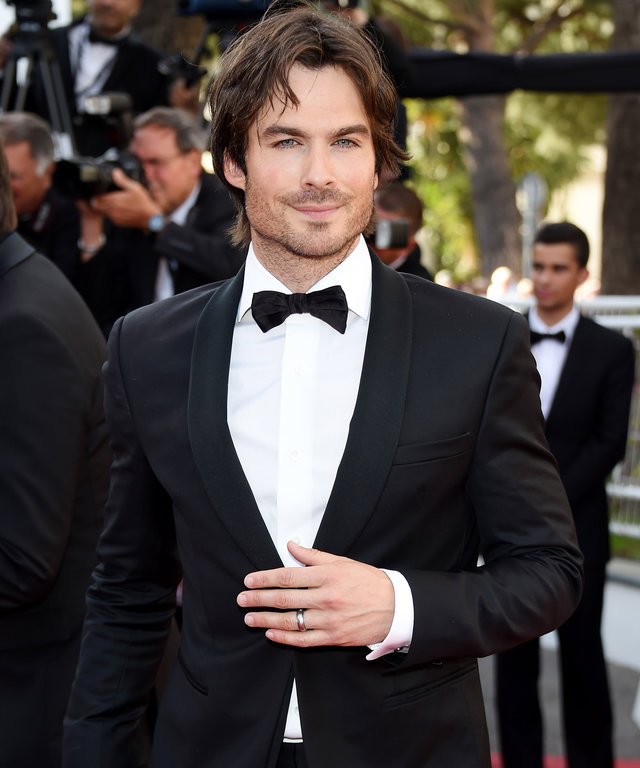 CANNES, FRANCE - MAY 20:  Ian Somerhalder attends the  Youth   Premiere during the 68th annual Cannes Film Festival on May 20, 2015 in Cannes, France.  (Photo by Venturelli/WireImage)