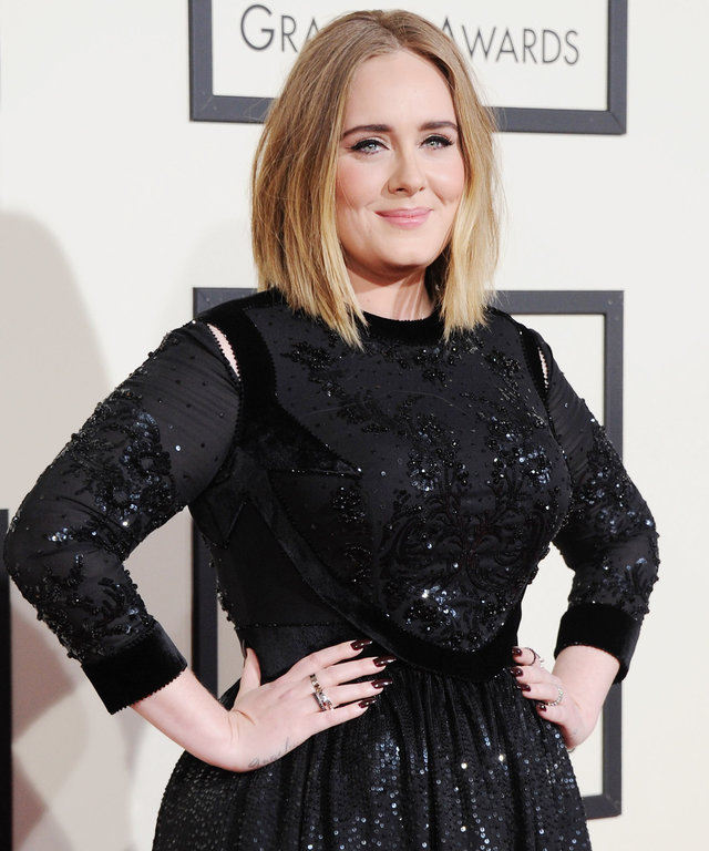 LOS ANGELES, CA - FEBRUARY 15:  Singer Adele arrives at The 58th GRAMMY Awards at Staples Center on February 15, 2016 in Los Angeles, California.  (Photo by Jon Kopaloff/FilmMagic)