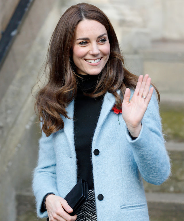 GLOUCESTER, UNITED KINGDOM - NOVEMBER 04: (EMBARGOED FOR PUBLICATION IN UK NEWSPAPERS UNTIL 48 HOURS AFTER CREATE DATE AND TIME) Catherine, Duchess of Cambridge departs after visiting the Nelson Trust Women's Centre on November 4, 2016 in Gloucester, Engl