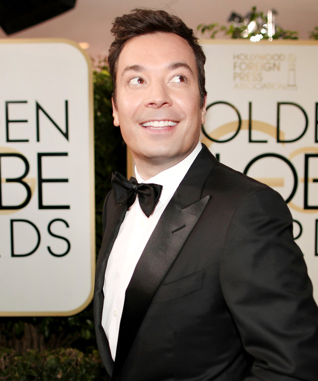 BEVERLY HILLS, CA - JANUARY 08:  74th ANNUAL GOLDEN GLOBE AWARDS -- Pictured: Host Jimmy Fallon arrives to the 74th Annual Golden Globe Awards held at the Beverly Hilton Hotel on January 8, 2017.  (Photo by Christopher Polk/NBC/NBCU Photo Bank via Getty I
