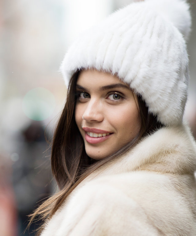 NEW YORK, NY - FEBRUARY 15:  Sara Sampaio seen  in the streets of Manhattan after the Tommy Hilfiger show  during New York Fashion Week: Women's Fall/Winter 2016 on February 15, 2016 in New York City.  (Photo by Timur Emek/Getty Images)