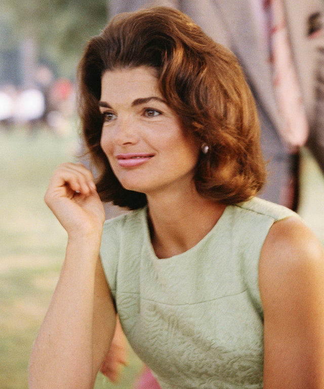 This content is subject to copyright. CIRCA 1960s:  Former First Lady Jacqueline Kennedy enjoys herself at a picnic circa the 1960s.  (Photo by Michael Ochs Archives/Getty Images)