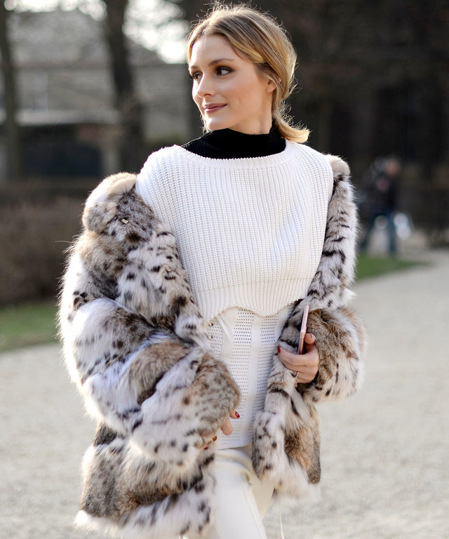 PARIS, FRANCE - JANUARY 23:  Olivia Palermo attends the Christian Dior Haute Couture Spring Summer 2017 show as part of Paris Fashion Week at Musee Rodin on January 23, 2017 in Paris, France.  (Photo by Vanni Bassetti/Getty Images)