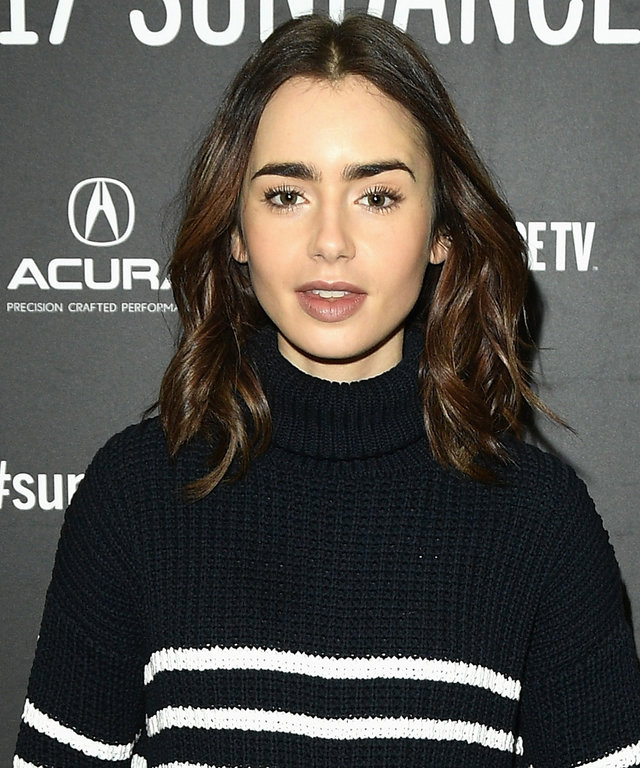 "PARK CITY, UT - JANUARY 22:  Actress Lily Collins attends the ""To The Bone"" Premiere on day 4 of the 2017 Sundance Film Festival at Eccles Center Theatre on January 22, 2017 in Park City, Utah.  (Photo by George Pimentel/Getty Images for Sundance Film Fes"