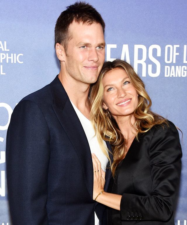 """NEW YORK, NY - SEPTEMBER 21:  Professional Football player Tom Brady and wife, model Gisele Bundchen attend National Geographic's """"Years Of Living Dangerously"""" new season world premiere at the American Museum of Natural History on September 21, 2016 in Ne"""