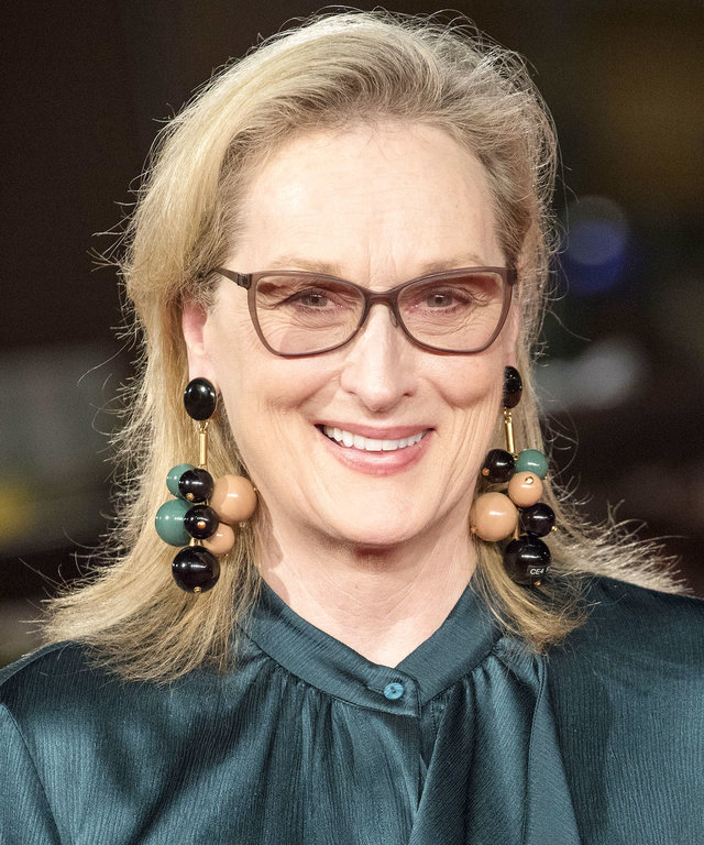 "ROME, ITALY - OCTOBER 20: Actress Meryl Streep attends the premiere of the movie ""Florence Foster Jenkins"" during 11th Rome film festival at Auditorium Parco della Musica in Rome,  Italy on October 20, 2016.    (Photo by Primo Barol/Anadolu Agency/Getty I"