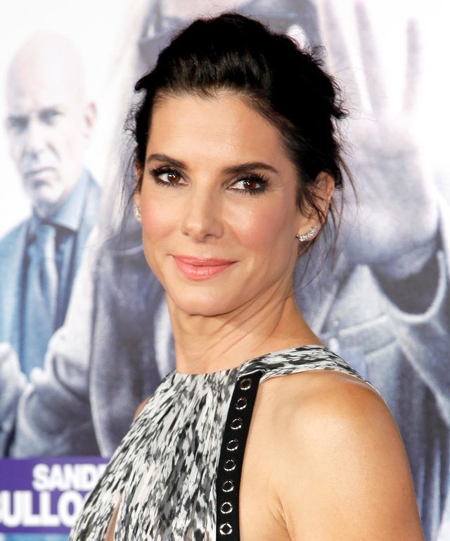 "HOLLYWOOD, CA - OCTOBER 26:  Actress Sandra Bullock attends the premiere of Warner Bros. Pictures' ""Our Brand Is Crisis"" at TCL Chinese Theatre on October 26, 2015 in Hollywood, California.  (Photo by Tibrina Hobson/Getty Images)"