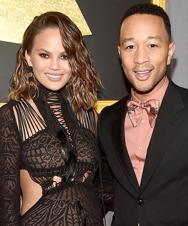 John Legend Takes Off Drunk Chrissy Teigen's Jewelry Post-Grammys