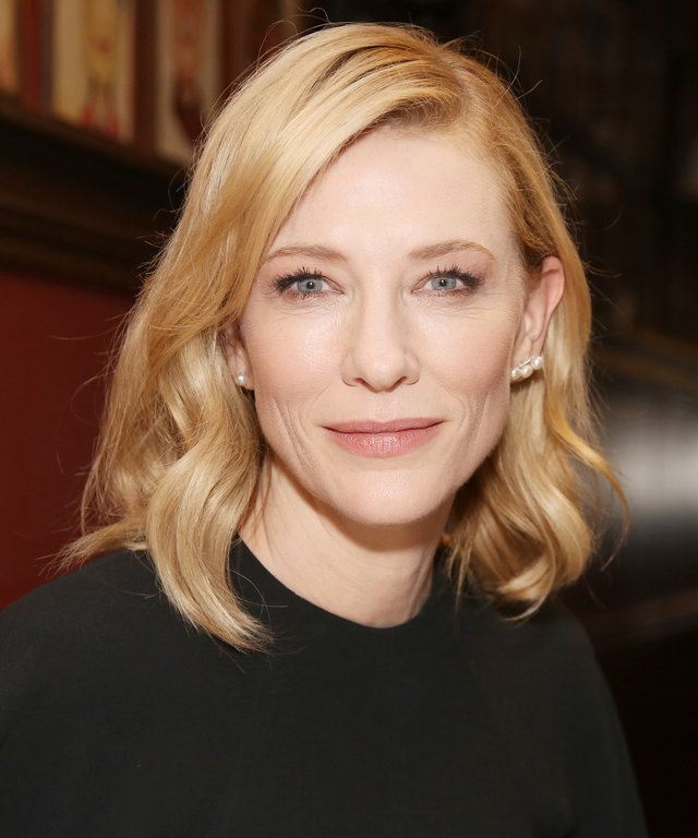 NEW YORK, NY - MARCH 14:  Cate Blanchett attends the Cate Blanchett and Richard Roxburgh Caricature Unveiling at Sardi's on March 14, 2017 in New York City.  (Photo by Walter McBride/WireImage)