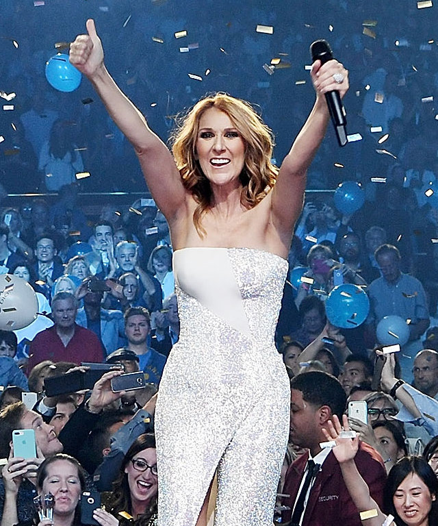 LAS VEGAS, NV - OCTOBER 08:  Celine Dion celebrates her 1,000th show at The Colosseum at Caesars Palace on October 8, 2016 in Las Vegas, Nevada.  (Photo by Denise Truscello/WireImage)