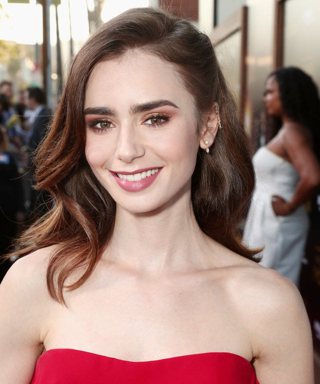 lily collins topless