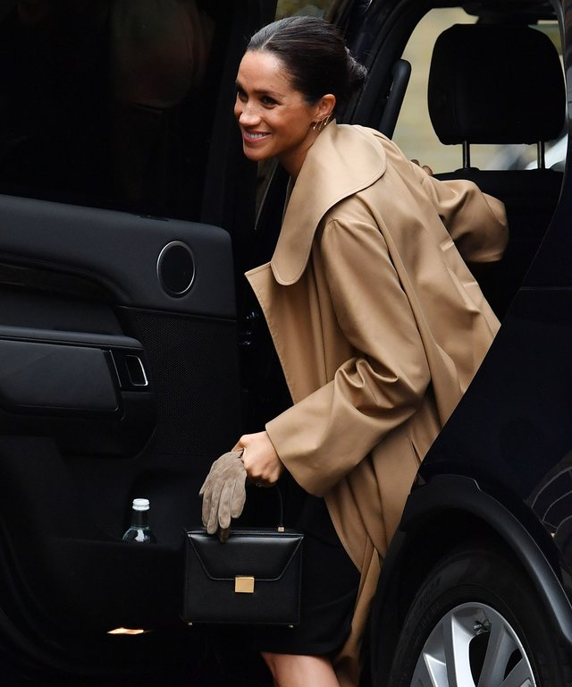 Meghan Markle wearing cow print