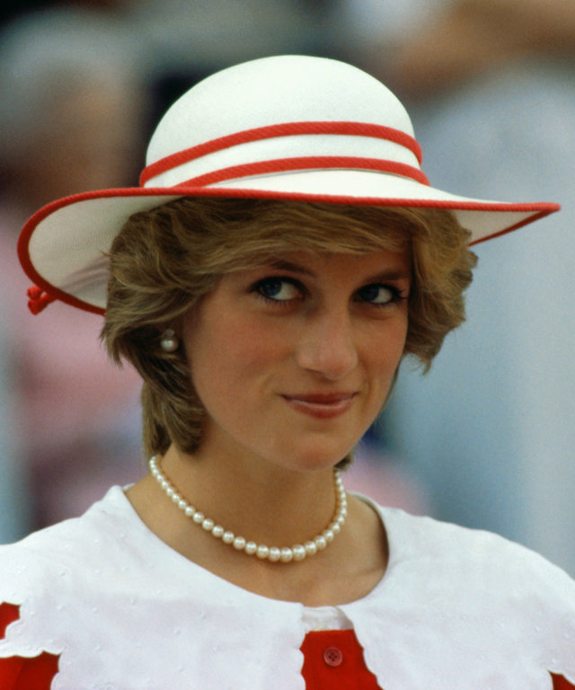 Princess Diana in Hat