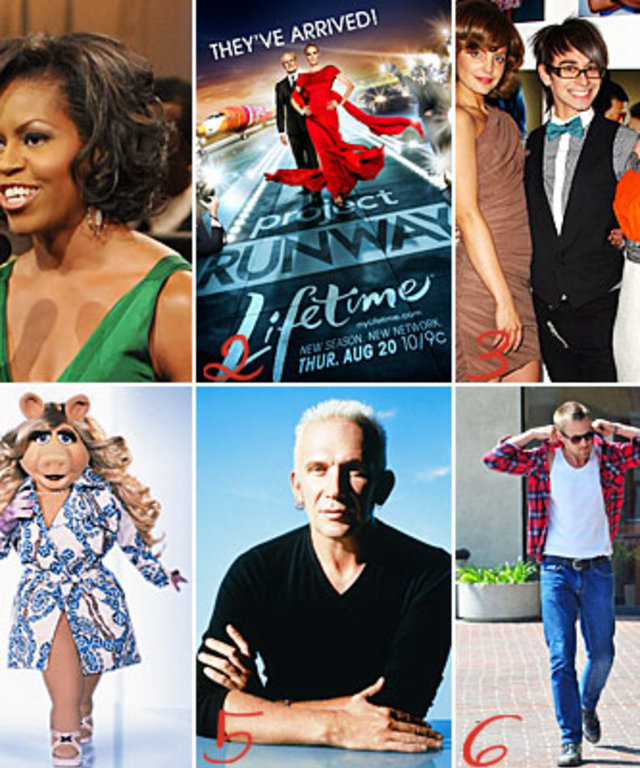 Michelle Obama - Hair - Project Runway - Christian Siriano - Victoria's Secret Very Sexy - Miss Piggy - Marc Jacobs - Jean Paul Gaultier - Ryan Gosling