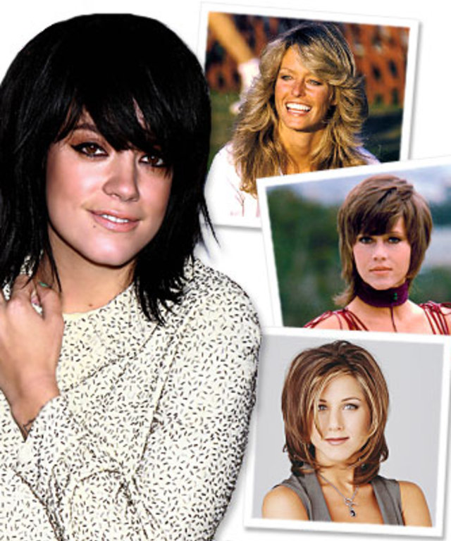 Lily Allen-Haircut-Farrah Fawcett-Jennifer Aniston-Jane Fonda