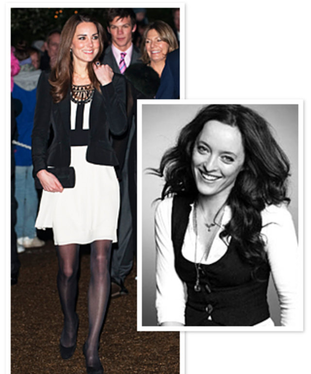 Kate Middleton in Alice Temperley dress