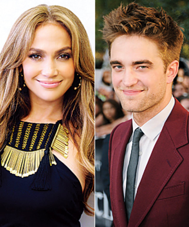Jennifer Lopez Robert Pattinson present at the Golden Globe Awards
