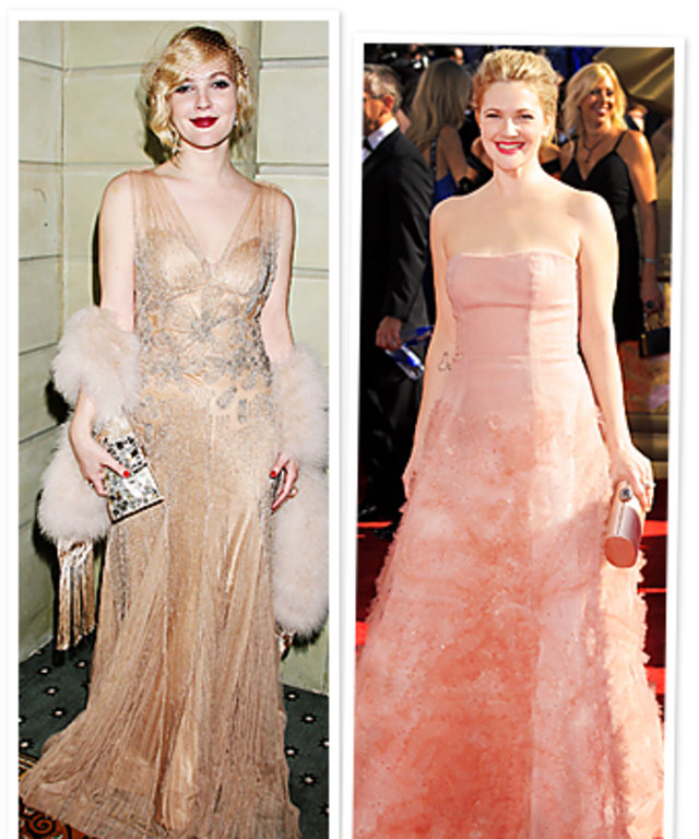 See Drew Barrymore S Wedding Dress Style Instyle Com