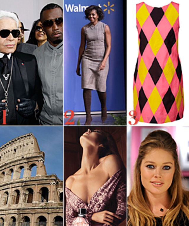 Karl Lagerfeld P. Diddy Michelle Obama Doutzen Kroes