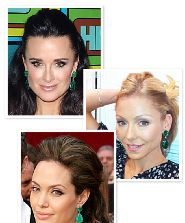 Kyle Richards Green Earrings