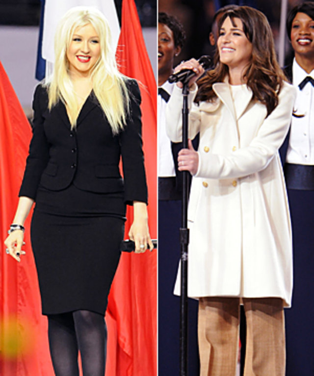 Lea Michele and Christina Aguilera