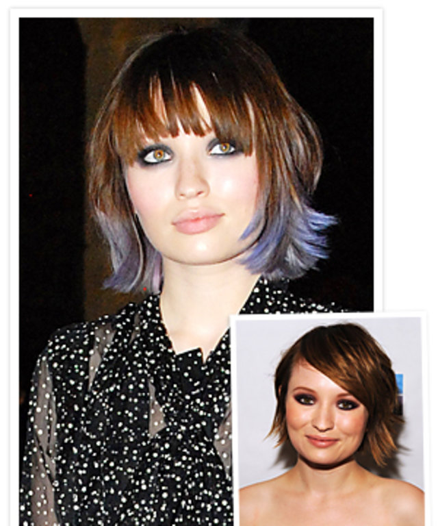 New Hairstyles 2011 Emily Brownings Pastel Purple Tips Instyle