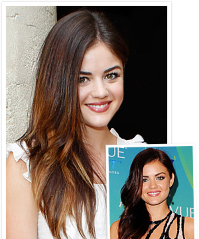 New Fall Hair Color Alert Lucy Hale Lightens Up Instyle