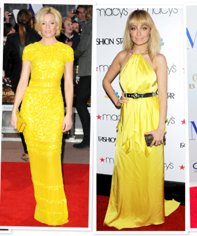 Yellow Celebrities Wearing Yellow
