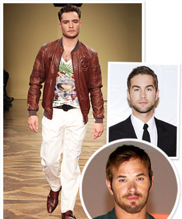 Men's Fashion Week, Ed Westwick, Chace Crawford, Kellan Lutz