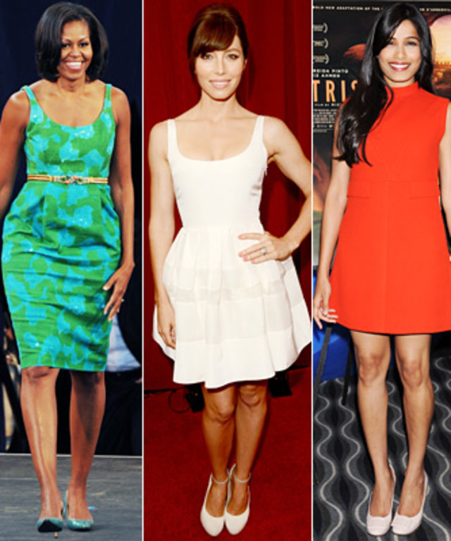 Diane Kruger, Michelle Obama, Jessica Biel, Freida Pinto, Michelle Williams