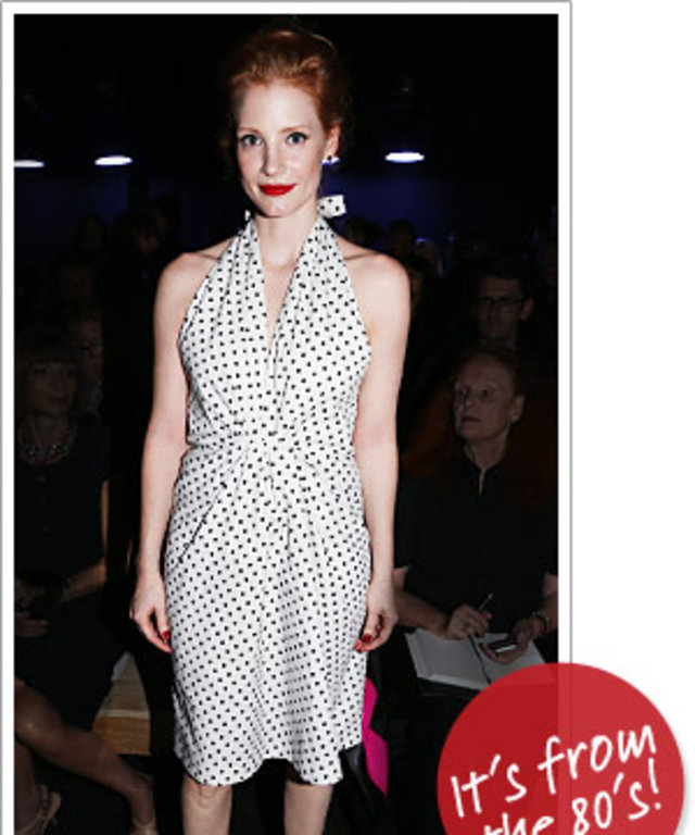 Jessica Chastain in YSL