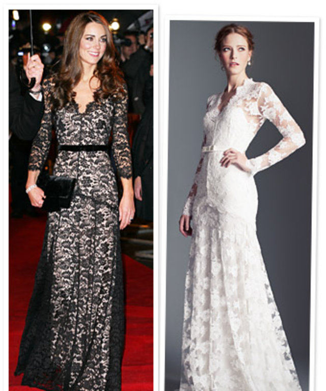 844b781c2473 Kate Middleton s Lace Temperley Dress  Coming Soon in White Bridal ...