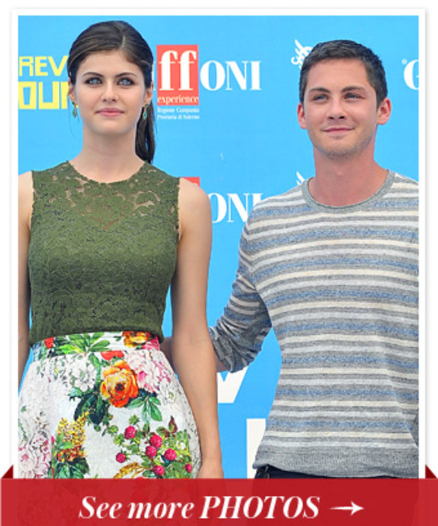 Alexandra Daddario and Logan Lerman