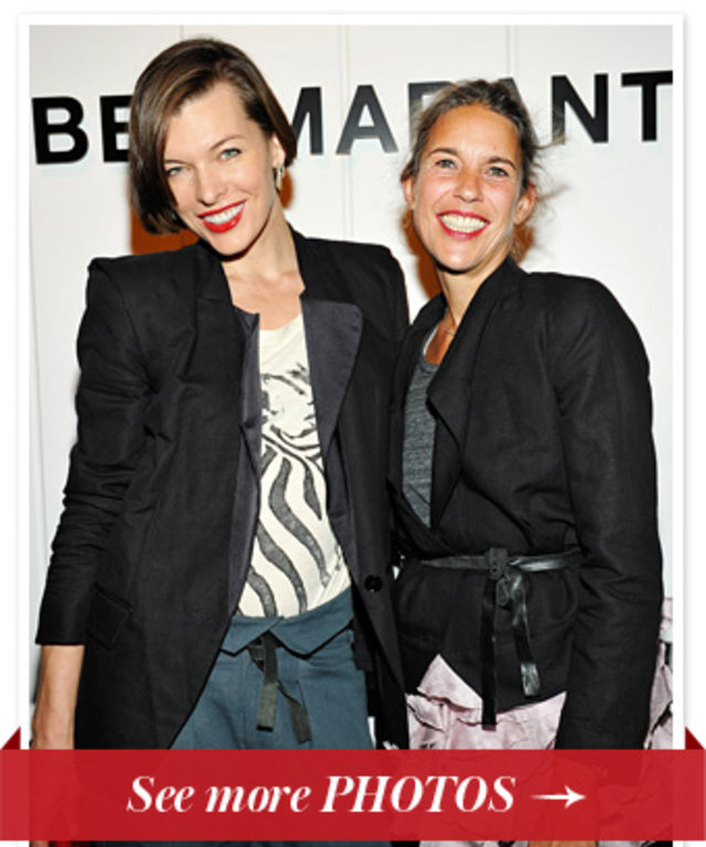 Milla Jovovich and Isabel Marant