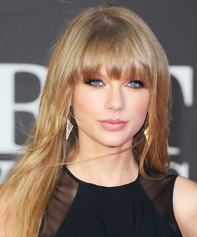 Taylor Swift Layered Bangs