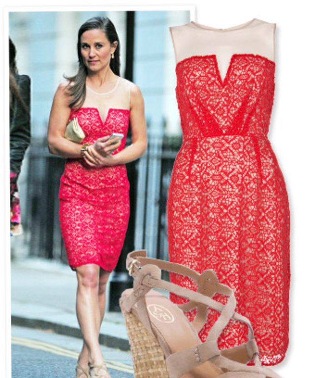 Pippa Middleton, Alice by Temperley dress and Ash wedges