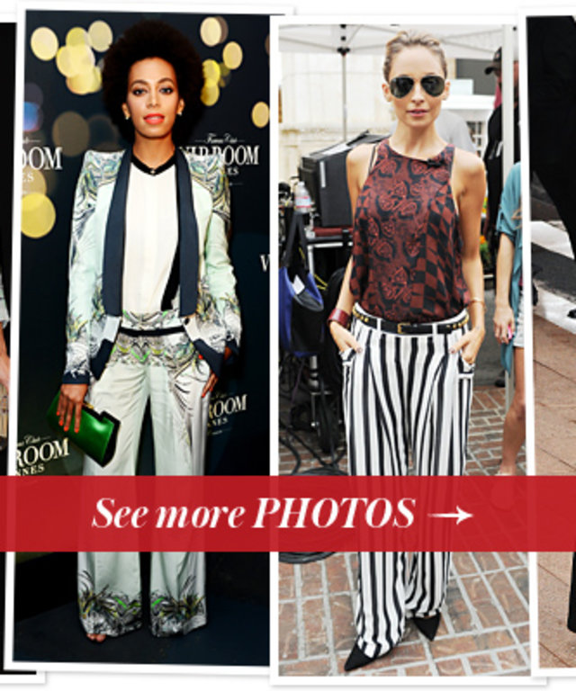 Milla Jovovich, Solange Knowles, Nicole Richie and Elizabeth Olsen in Wide-Leg Pants