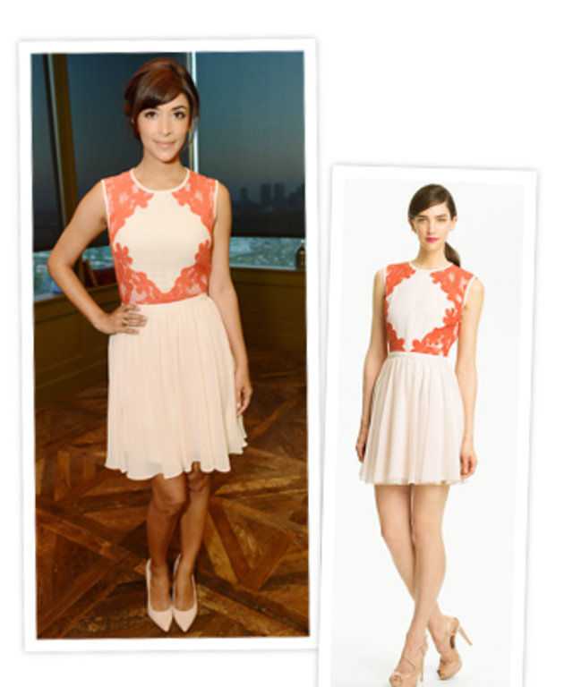 Hannah Simone and Ted Baker Dress